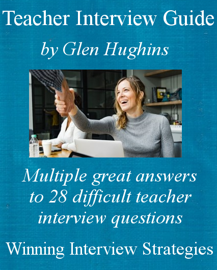 Cover of an eBook, the teacher interview guide